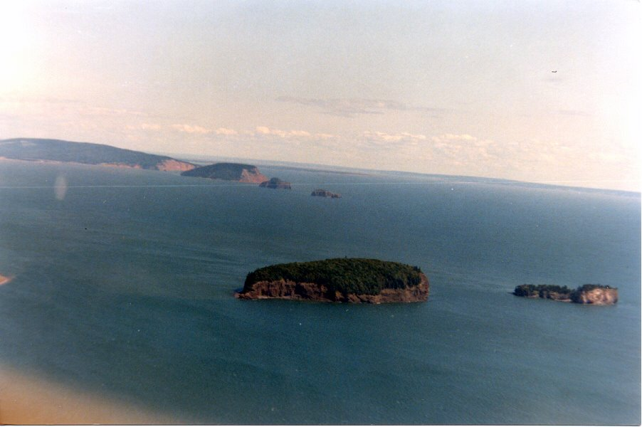 Aerial Two Islands & Five Islands High Tide