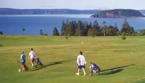 Golfing at the Parrsboro Golf Course